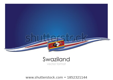 Handdrawn flag of Swaziland Stock photo © claudiodivizia