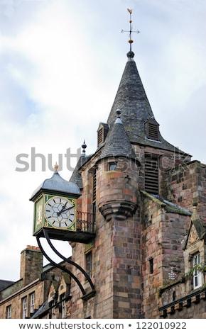 クロック エディンバラ スコットランド 市 夏 城 ストックフォト © Julietphotography