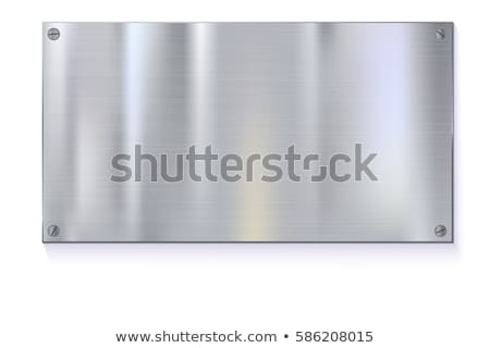 blank golden metal plate isolated on the white background stock photo © inxti