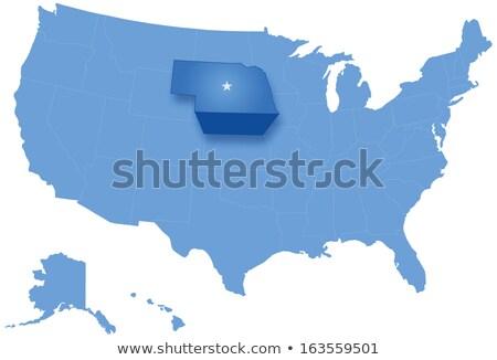 Térkép Egyesült Államok Nebraska ki politikai összes Stock fotó © Istanbul2009