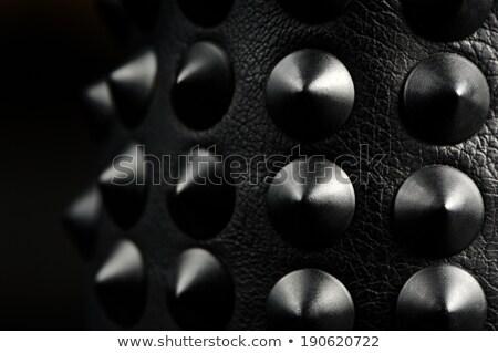 bőr · karkötő · nők · fehér · terv · fekete - stock fotó © foka