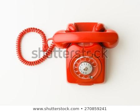 telefon · fal · fém · kapcsolat · zöld - stock fotó © jonnysek