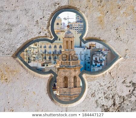 Valencia aerial skyline with Santa Catalina belfry tower Stock photo © lunamarina