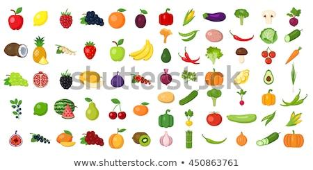 セット · フルーツ · 孤立した · リンゴ · バナナ · 梨 - ストックフォト © MilAlena