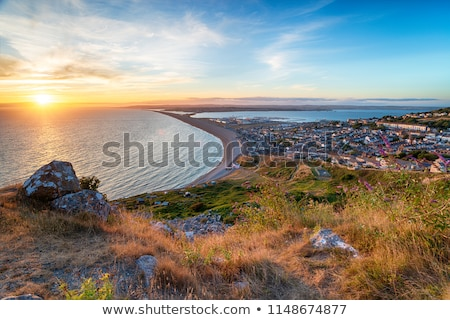 Iskele kasaba liman plaj gökyüzü doğa Stok fotoğraf © ollietaylorphotograp