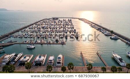 Panorama of Larnaca marina. Cyprus Stock photo © Kirill_M