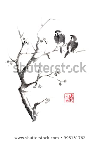 chinese bird stamps stock photo © claudiodivizia