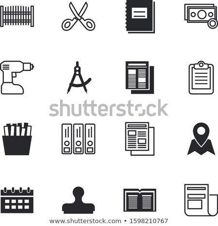 Questionnaire boussole décision choix choisir Photo stock © devon