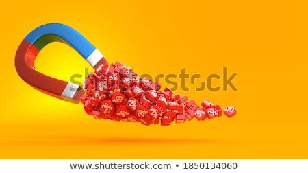 Mágnes 3D generált kép arany piac Stock fotó © flipfine