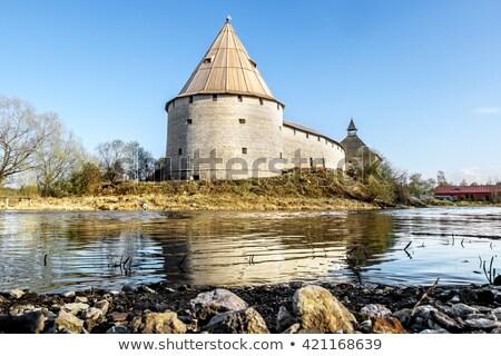 Fortaleza Rusia iglesia agua construcción naturaleza Foto stock © Mikko