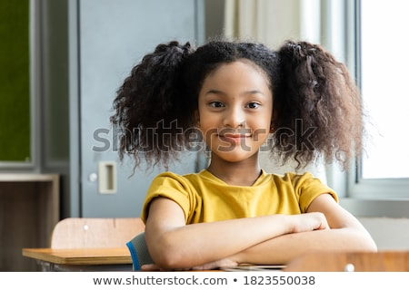 Zdjęcia stock: Dziewczyna · młoda · dziewczyna · banderą · malowany · policzek · kobieta