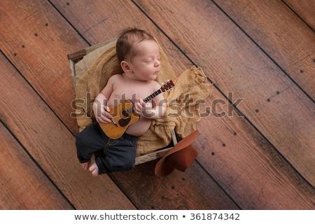 ギター 黄麻布 クラシカル 木材 レトロな 黄色 ストックフォト © Valeriy