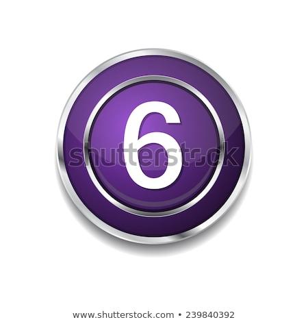 Numer wektora fioletowy web icon przycisk Zdjęcia stock © rizwanali3d