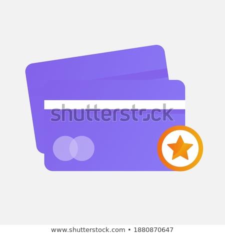 Biztonságos tranzakció lila vektor ikon terv Stock fotó © rizwanali3d