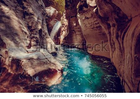 グルジア 峡谷 自然 山 風景 ストックフォト © Kor