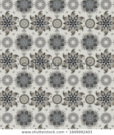decorative background with a circular mesh gold ornaments and precious stones stock photo © yurkina