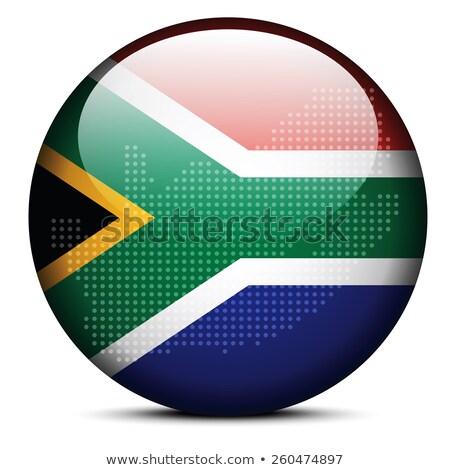 南アフリカ · フラグ · 白 · デザイン · 世界 · にログイン - ストックフォト © istanbul2009