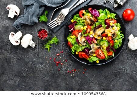 Healthy Grilled Mushroom Salad Stock photo © ozgur