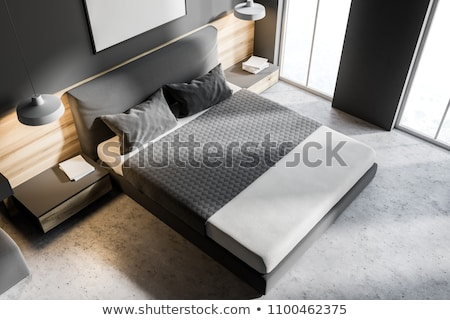 King size bed viewed from above Stock photo © ozgur