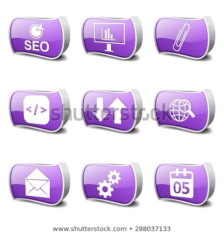 SEO Internet Sign Violet Vector Button Icon Design Set 6 Stock photo © rizwanali3d