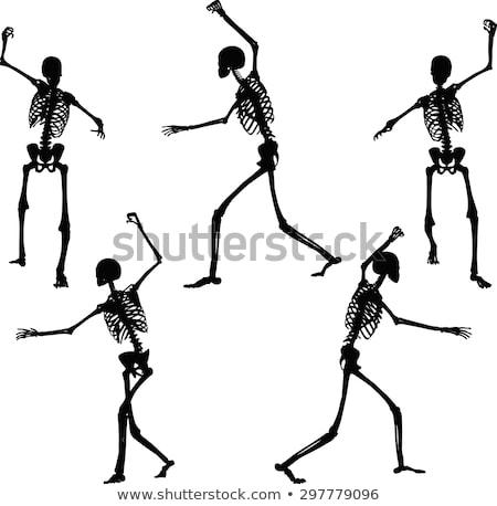 skeleton silhouette in intimidating pose Stock photo © Istanbul2009