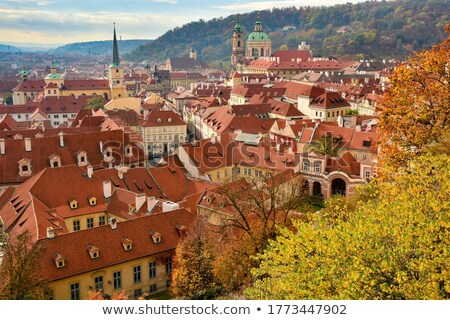 Panoramic overview of old Prague Stock photo © AndreyKr