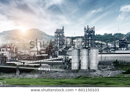 Cement factory  in the mountains Stock photo © stoonn