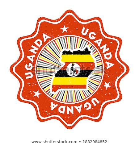 gomb · zászló · Uganda · fém · keret · utazás - stock fotó © mikhailmishchenko