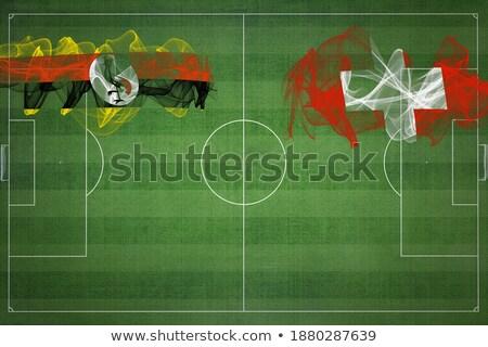 Svájc Uganda zászlók puzzle izolált fehér Stock fotó © Istanbul2009
