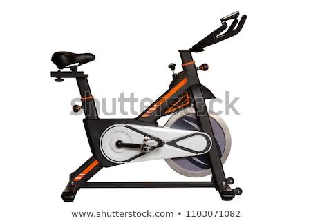 Esercizio bike isolato bianco salute Foto d'archivio © shutswis