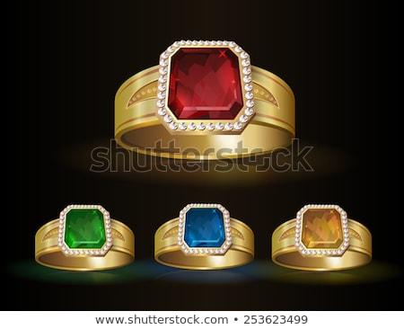 vetor · roxo · diamante · jóia · coração - foto stock © dashadima