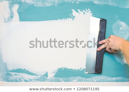 Stock photo: Palette knife with level