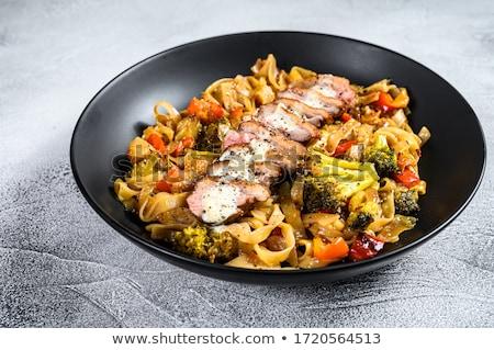 ストックフォト: カモ · 乳がん · フライド · 麺 · ぱりぱり · 野菜