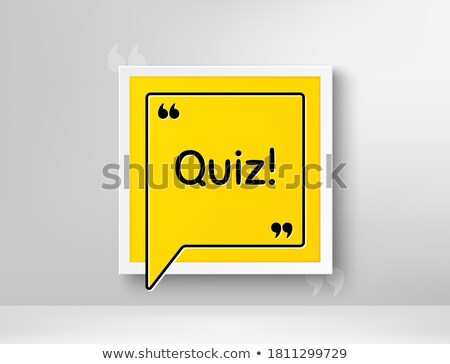 realistic illustration photoframe with sign question stock photo © smeagorl