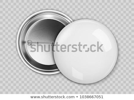 Odznakę biały wektora odizolowany internetowych Zdjęcia stock © m_pavlov