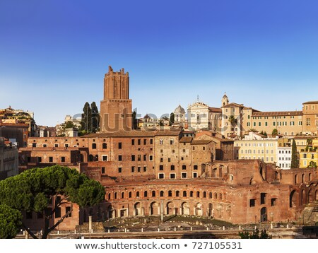 The ruins of Trajan's Market (Mercati di Traiano) in Rome Stock photo © meinzahn