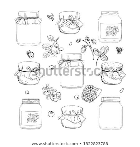collection of jar of jam stock photo © m-studio