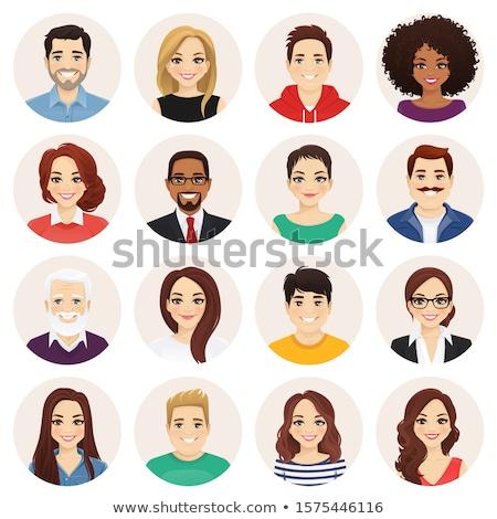 szett · betűk · ikon · szett · üzlet · lány · férfi - stock fotó © vectorikart