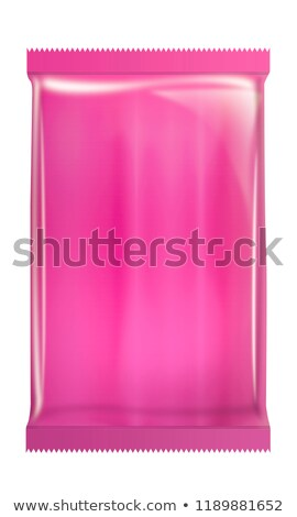 A pink pouch with an empty label Stock photo © bluering