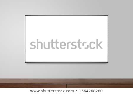 LCD tv fal végtelenített réteges illusztráció Stock fotó © DzoniBeCool