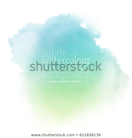 green water color paint stain vector design Stock photo © SArts