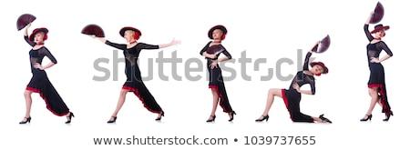 Vrouw dansen traditioneel spaans dans geïsoleerd Stockfoto © Elnur