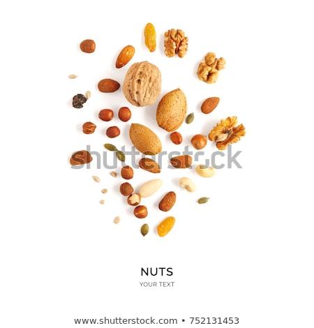pistachio peanut on white stock photo © kayros