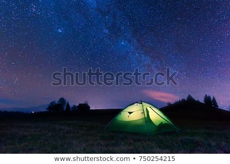 туристических палатки ночное небо звезды природы свет Сток-фото © All32