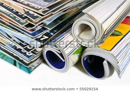 tekert · magazinok · fehér · üzlet · ház · könyv - stock fotó © kayros