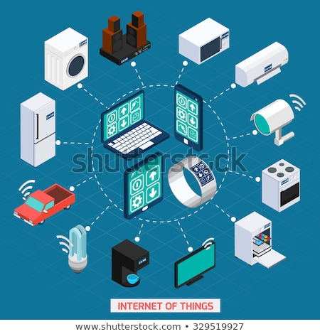 Stock photo: Smart Home Cycle Phone Concept Illustration Design