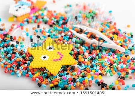 Gyöngyök szett tarka doboz kéz ékszerek Stock fotó © pakete