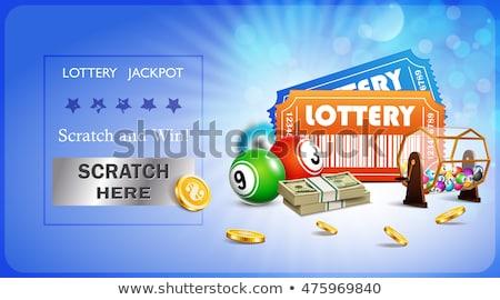 Lotteria biglietti arancione nero giocare Foto d'archivio © mybaitshop