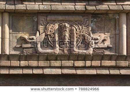 Chichén · Itzá · pared · México · construcción · fondo - foto stock © ca2hill
