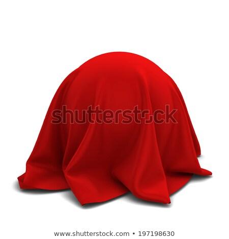 Esfera coberto vermelho seda tecido isolado Foto stock © pakete